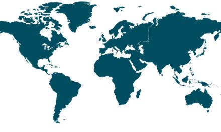 интерактивна карта с информация за начина на преминаване на границите по света