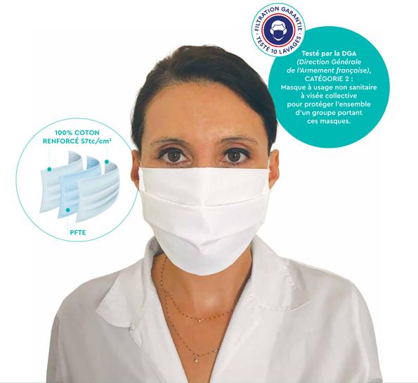 Фирма Avramoff e сертифицирана от DGA – отдел във  френското военно министерство –  да продава маски във Франция