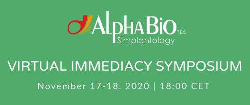 Alpha Bio организира безплатен онлайн международен симпозиум: ИМЕДИАНТНО ПОСТАВЯНЕ НА ИМПЛАНТИ И ИМЕДИАНТНО ПРОТЕЗИРАНЕ ВЪРХУ ИМПЛАНТИ,17-18 НОЕМВРИ