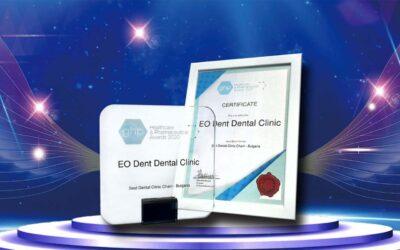 ЕО Дент с поредна международна награда – Най-добра верига дентални клиники в България 2020!