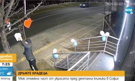 Крадат украсата пред дентална клиника