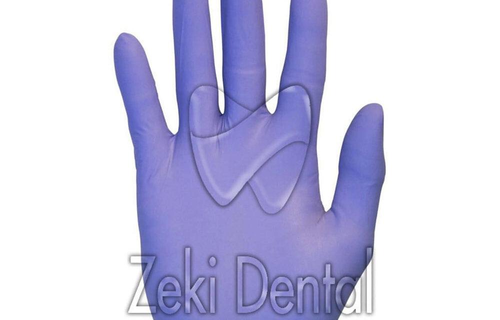 Лилави нитрилни ръкавици без талк. 100 бр в кутия на цена 19 лв с ДДС